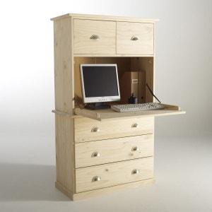 Betta Solid Pine Bureau-Bookcase La Redoute Interieurs