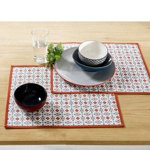 Podkładki stołowe powlekane HELIA polibawełna ant (zestaw 2 sztuk) La Redoute Interieurs