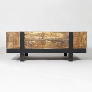 Table basse bois métal design grand modèle  |  TBIGM MADE IN MEUBLES