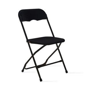 Chaise pliante noire en plastique MOBEVENTPRO
