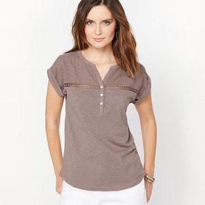 T-shirt puro cotone fiammato ANNE WEYBURN