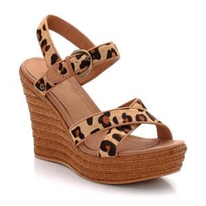 Chaussures W JAZMINE CALF HAIR LEOPARD UGG