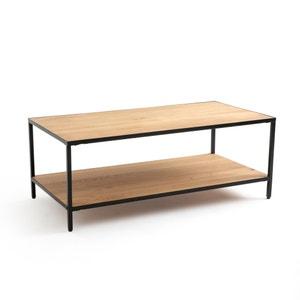 Rechthoekige salontafel in eik en metaal, Nova