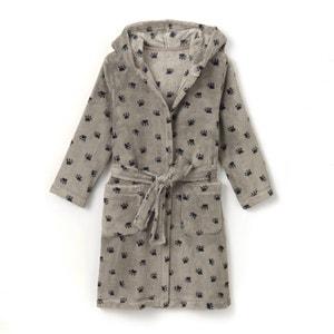 Robe de chambre à capuche imprimée 2-12 ans La Redoute Collections