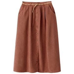 Długa spódnica na guziki, z tencelu VERO MODA