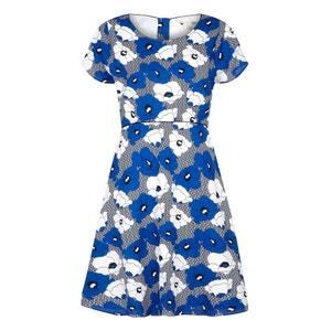 Short Floral Print Skater Dress YUMI