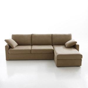 Canapé d'angle lit, couchage express, coton demi n La Redoute Interieurs