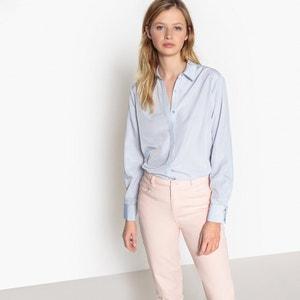 Блузка с блестящим эффектом и скрытой планкой застежки на пуговицы La Redoute Collections