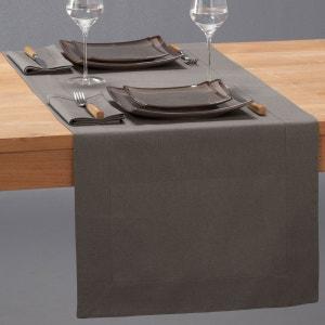 Caminho de mesa em meio-linho, BORDER La Redoute Interieurs