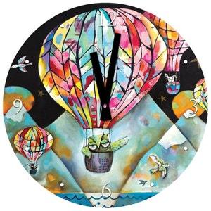 Pendule en verre Promenade en ballon de Michelle Allen ENESCO
