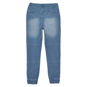 Biker jogger jeans 10-16 jaar La Redoute Collections