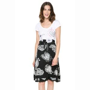 Платье с короткими рукавами, на поясе, двухцветное DESIGUAL, Vest Roxana DESIGUAL