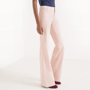 Twillowe spodnie dzwony z 5 kieszeniami R essentiel