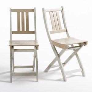 Chaise de jardin acacia FSC Manta (lot de 2) La Redoute Interieurs