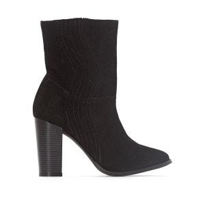 Boots cuir élastique forme vague La Redoute Collections