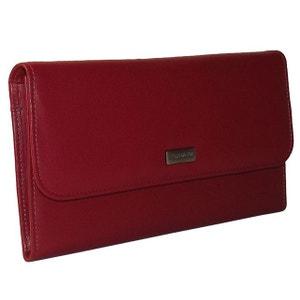 Portefeuille cuir rouge CHAPEAU-TENDANCE