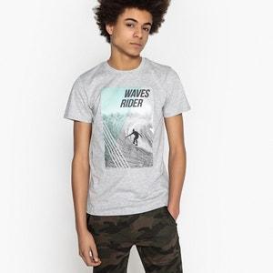 T-shirt scollo rotondo fantasia 10-16 anni La Redoute Collections