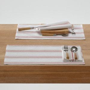 Confezione da 2 set da tavola FERM, a righe. La Redoute Interieurs