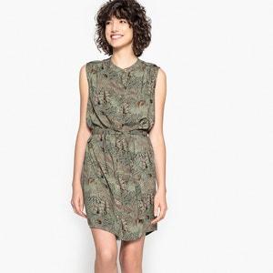 Bedrukte korte rechte jurk zonder mouwen LPB WOMAN