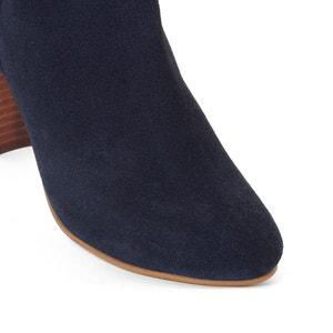 Boots in onbewerkt leer, brede voet, 38-45 CASTALUNA