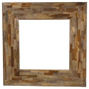 Miroir carré en teck 90 x 90 cm Woody ZAGO