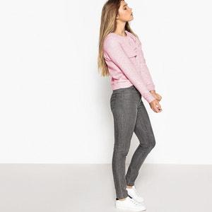 Sweatshirt, Materialmix, breiter Volant MADEMOISELLE R