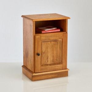Chevet 1 porte, pin massif finition cirée, Authentic Style La Redoute Interieurs