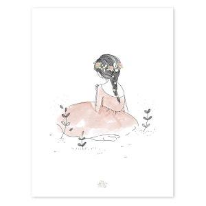 Affiche romantique fillette LILIPINSO