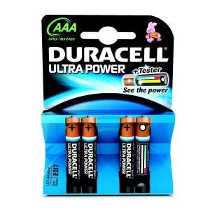 Piles alcalines Ultra M3 LR3 (lot de 4) DURACELL