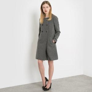 Manteau double boutonnage à pois La Redoute Collections