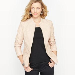 Faux Leather Bomber Jacket ANNE WEYBURN