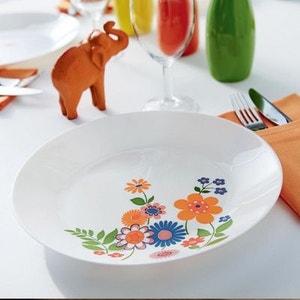 Service de table motif fleurs Arcopal Celena 18 pièces LUMINARC