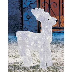 Superbe décoration de Noël ! - Renne lumineux acrylique - 40 LED blanches dont flash - Effet scintillant ! NONAME