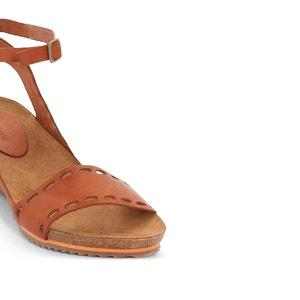 Sandalias de piel con tacón de cuña Tokrom KICKERS
