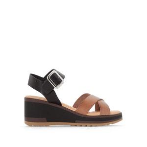 Skórzane sandały na platformie WIND KICKERS