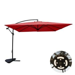 Solenzara à LED terracotta : Parasol à LED déporté 3x3m CONCEPT USINE
