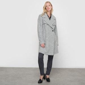 Manteau col tailleur La Redoute Collections