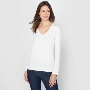 T-shirt, pur coton peigné ANNE WEYBURN