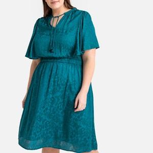 Halflange rechte jurk in jacquard