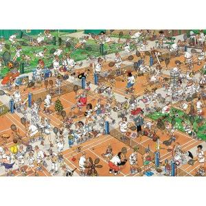 Jan van Haasteren - Puzzle Comic 1000 Tennis - DIS617076 JUMBO