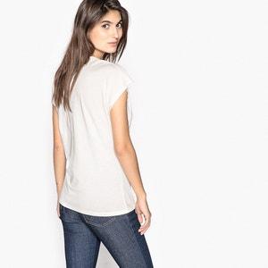 T-shirt col V, coton & modal ANNE WEYBURN