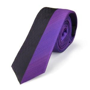 Cravate slim MIX Violet club et ondulations VIRTUOSE