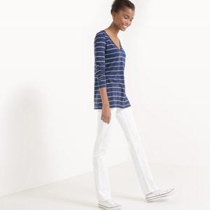 Camiseta a rayas, algodón y modal La Redoute Collections