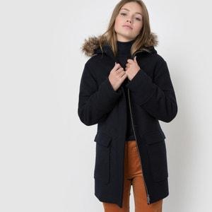 Manteau capuche fausse fourrure R essentiel