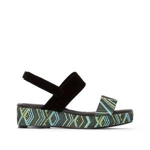 Fancy Wedge Heel Sandals CASTALUNA