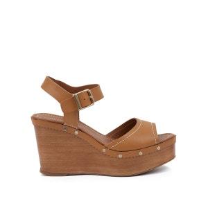 Sandales cuir talon compensé Edelys HEYRAUD