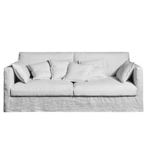 canape lin blanc la redoute. Black Bedroom Furniture Sets. Home Design Ideas