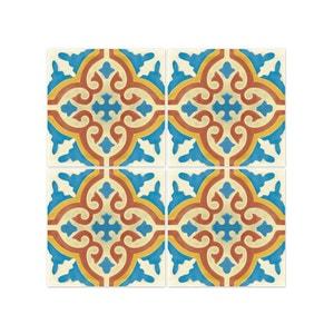 Stickers pour Carrelage de Salle de Bain ou Cuisine Rimal Bleu/Rouge WADIGA