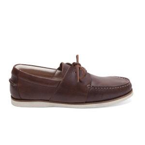 Chaussures bateau en Cuir Marin M. MOUSTACHE