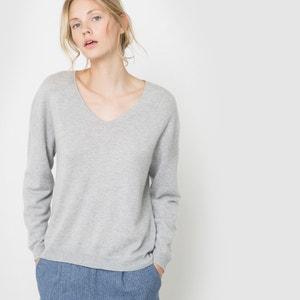 Kaszmirowy sweter z dekoltem w serek R studio